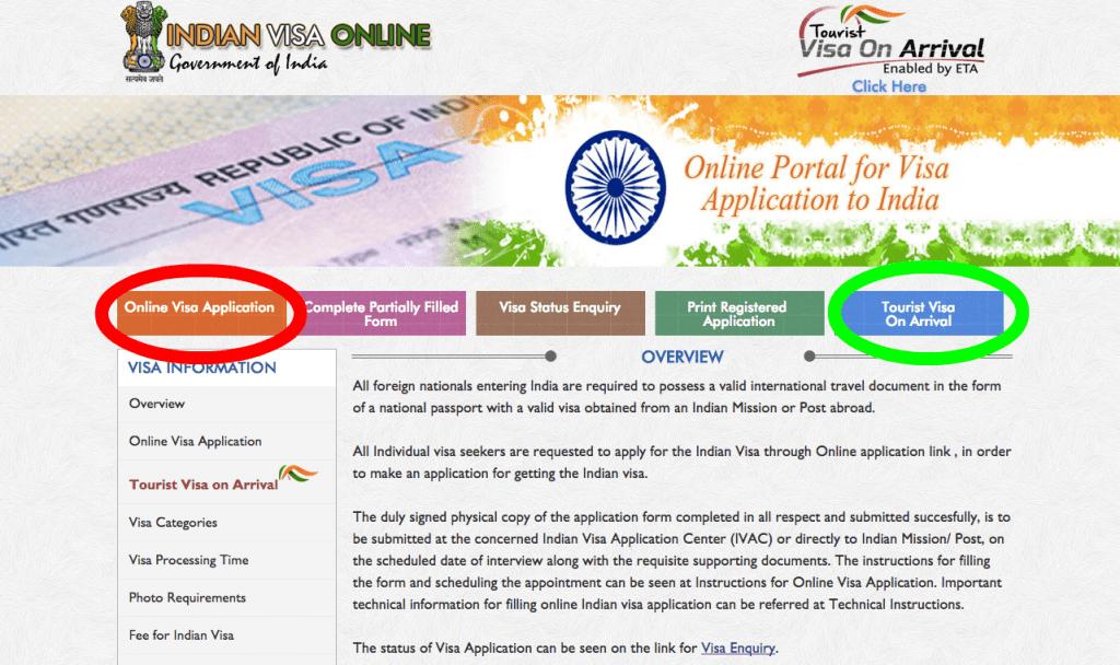 Visa online para viajar a India – Paso a paso
