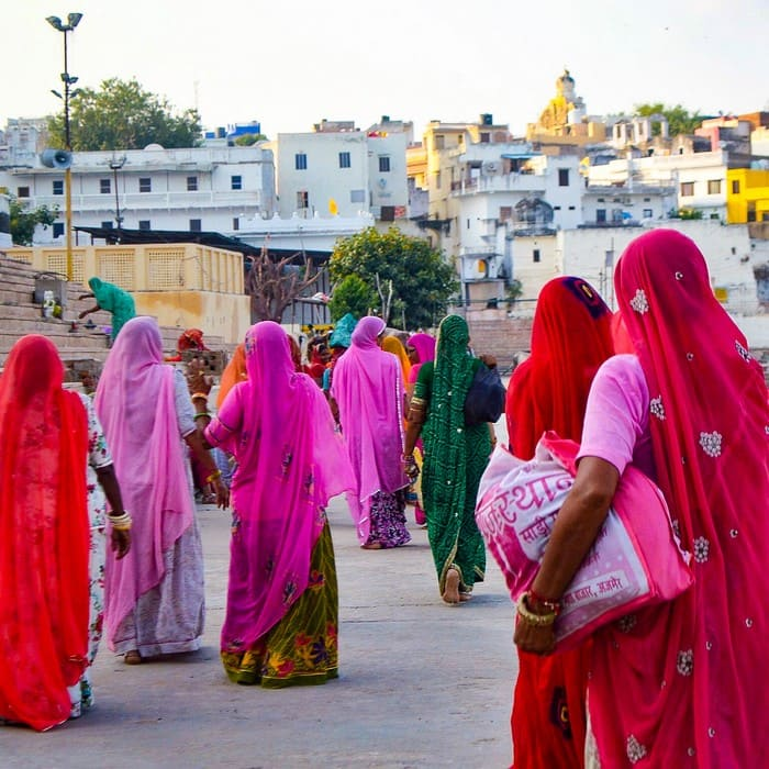 mujeres tradicionales rajasthan pushkar india